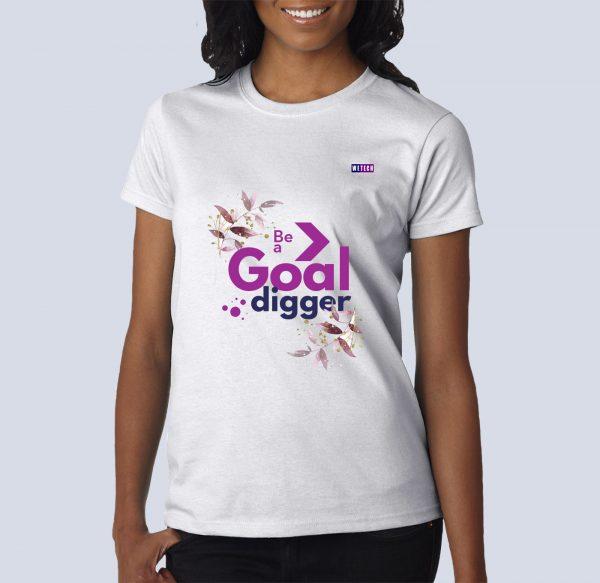 Tshirt - Be A Goal Digger - Black